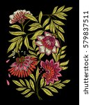 embroidery. embroidered design... | Shutterstock .eps vector #579837511