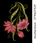 embroidery. embroidered design... | Shutterstock .eps vector #579837529