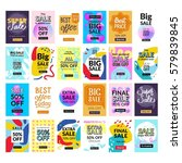 super set. 24 flat design sale... | Shutterstock .eps vector #579839845