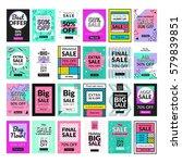 super set. 24 flat design sale... | Shutterstock .eps vector #579839851
