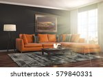 interior with sofa. 3d... | Shutterstock . vector #579840331