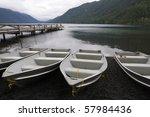 Row Boats At Dock  Lake...
