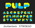 twisted pulp font vector... | Shutterstock .eps vector #579858265