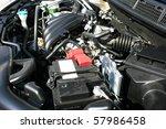 new car powerful engine. | Shutterstock . vector #57986458