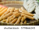 fish balls and sausages are... | Shutterstock . vector #579866245