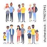 set of different couples and... | Shutterstock .eps vector #579872941