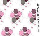 vector illustration of a happy... | Shutterstock .eps vector #579873457