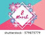happy mother's day. paper cut... | Shutterstock .eps vector #579875779
