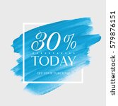sale today 30  off sign over... | Shutterstock .eps vector #579876151