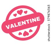 valentine stamp seal flat icon. ... | Shutterstock .eps vector #579876565