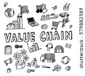 hand draw value chain business... | Shutterstock .eps vector #579882589