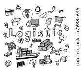 hand draw logistic business...   Shutterstock .eps vector #579882649