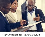 diverse business people meeting ... | Shutterstock . vector #579884275