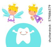 tooth fairy and cute happy...