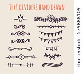 set of hand drawn text dividers ... | Shutterstock .eps vector #579888109
