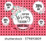 spring season sale offer ... | Shutterstock .eps vector #579893809