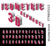 3d isometric red and gray... | Shutterstock .eps vector #579895315