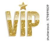 golden symbol of exclusivity ... | Shutterstock .eps vector #579899839