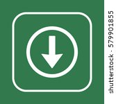 arrow   icon vector. flat...