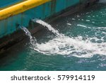 splashing water pump out from... | Shutterstock . vector #579914119