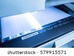 using copy print machine  copy... | Shutterstock . vector #579915571