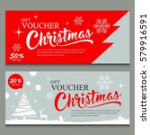 merry christmas gift voucher... | Shutterstock .eps vector #579916591