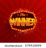 the winner retro banner with... | Shutterstock .eps vector #579919099