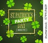 st. patrick day poster. vector... | Shutterstock .eps vector #579919609