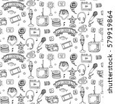 seamless pattern hand drawn... | Shutterstock .eps vector #579919864