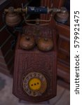 Small photo of Antique telephone, Home telephone, Vintage telephone, abstract of communication