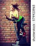 active young woman working out  ... | Shutterstock . vector #579923965