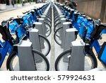 Commute Blue City Bikes Parked...