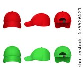 red and green caps on a white... | Shutterstock .eps vector #579926521