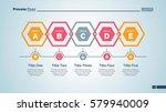 five hexagons diagram slide... | Shutterstock .eps vector #579940009