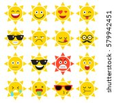 emojis. sun. sunlight. summer.... | Shutterstock .eps vector #579942451