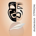 theater mask   Shutterstock .eps vector #57994246