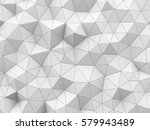 abstract white polygonal... | Shutterstock . vector #579943489