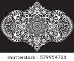 ethnic horizontal  mandala...   Shutterstock .eps vector #579954721