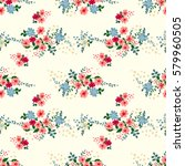 seamless cute pattern of small... | Shutterstock .eps vector #579960505