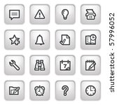 organizer web icons on gray... | Shutterstock .eps vector #57996052