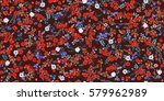 simple cute pattern in small... | Shutterstock .eps vector #579962989