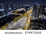aerial view road traffic... | Shutterstock . vector #579972505