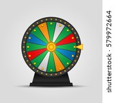 wheel of fortune  icon. vector... | Shutterstock .eps vector #579972664