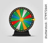 wheel of fortune  icon. vector... | Shutterstock .eps vector #579972664