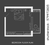 architectural plan with... | Shutterstock .eps vector #579972835