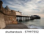 a view of cromer pier from the...