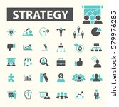 strategy icons  | Shutterstock .eps vector #579976285
