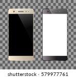 smartphones isolated. mobile... | Shutterstock .eps vector #579977761