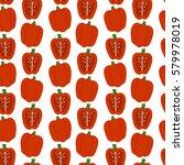 red pepper vector seamless...   Shutterstock .eps vector #579978019