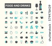 food   drinks icons | Shutterstock .eps vector #579978439